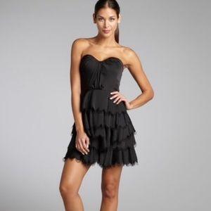 Rebecca Taylor Tiered Eyelash Bustier Dress